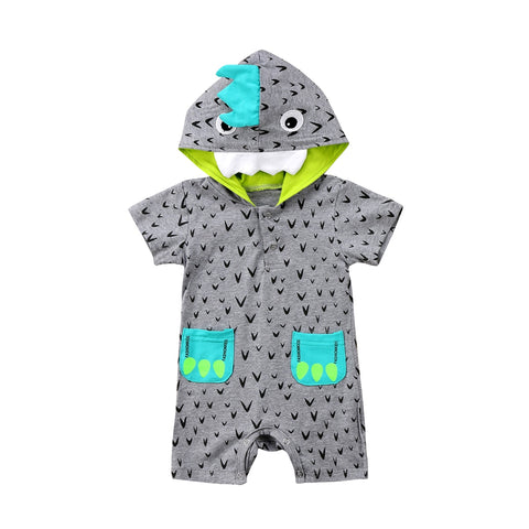 Image of Dinosaur Hooded Romper
