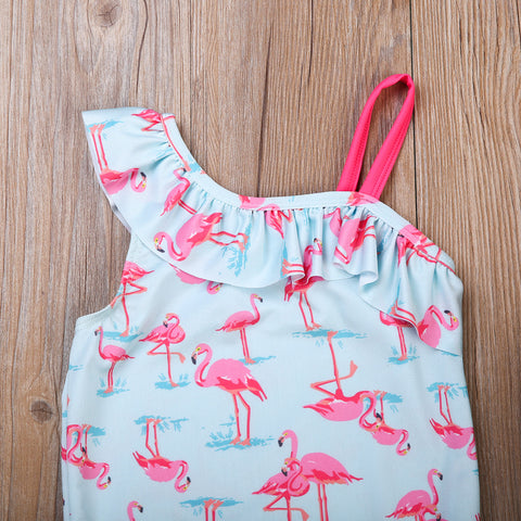Image of Flamingo One Shoulder Swimwear