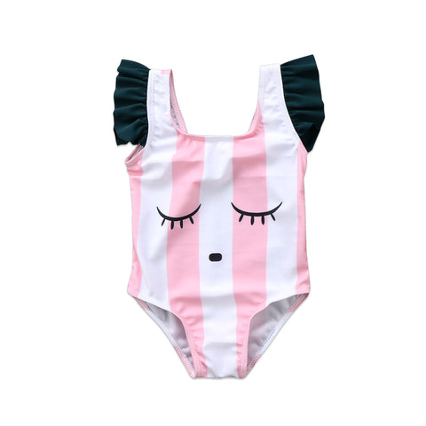 Eyelash Stripes Swimwear