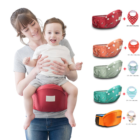 Image of Multi-functional Baby Waist Carrier + Bib (free gift)