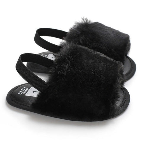 Fluffy Fur Baby Slides