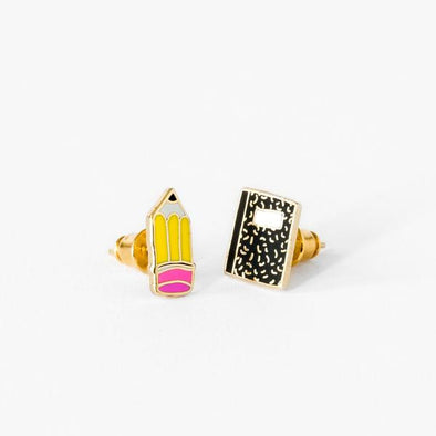 Yellow Owl Workshop Pencil & Notebook Earrings