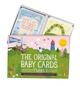 Milestone Baby Cards Twins Edition