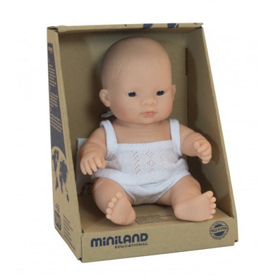 Miniland Asian Girl Baby doll 21cm