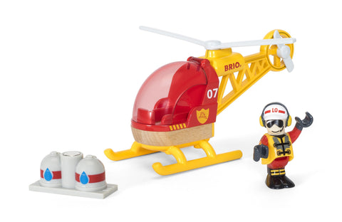 Brio Firefighter Helicopter with magnets