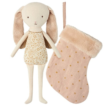 Maileg Angel bunny in stocking Pink