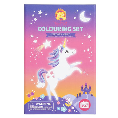 Tiber Tribe Colouring Set Unicorn Magic