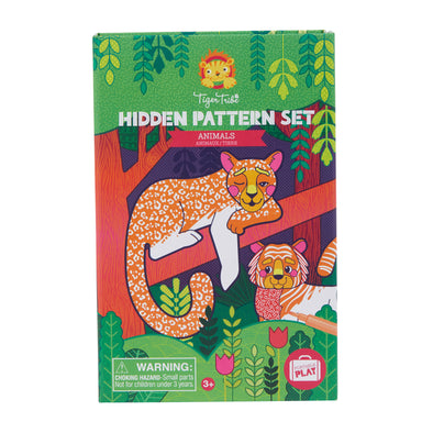 Tiger Tribe Hidden Pattern Colouring Set