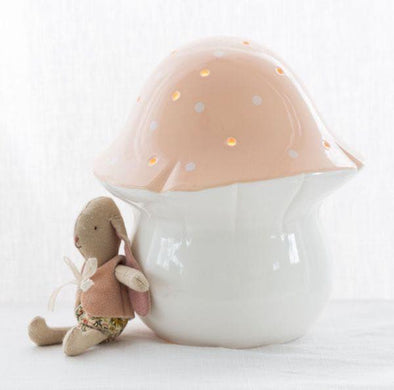 Little Belle Toadstool Night Light Peach