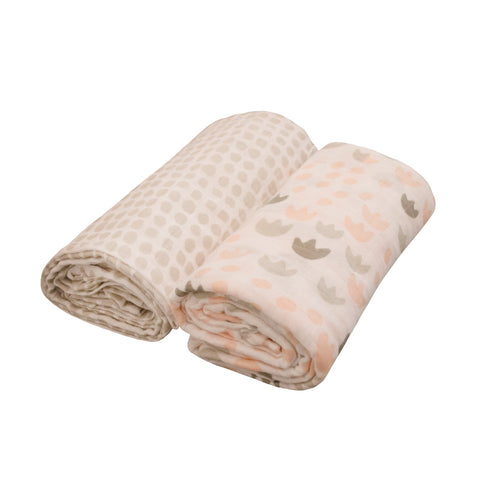 Madras Link Junior Meadow Blush Swaddle Set (2)