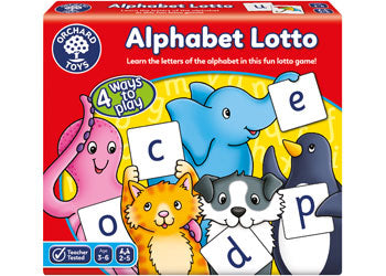 Alphabet Lotto game for 3 to 6 year olds by orchard Games