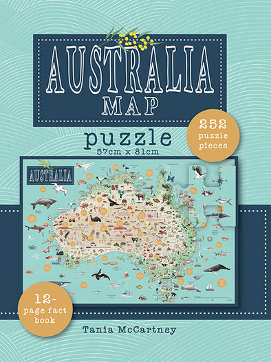 Australia Map Puzzle and Book