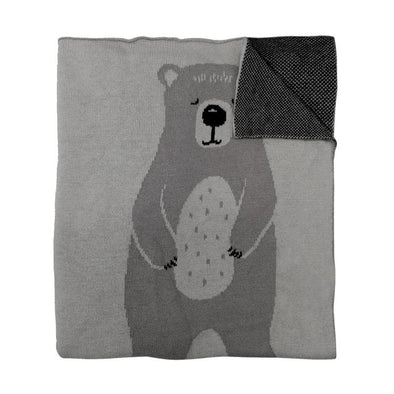 Mister Fly Knitted Bear Blanket