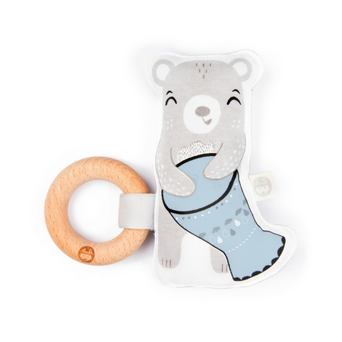 Kippins Billie Kiplet baby teething rattle