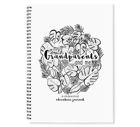 Monochrome Grandparents & Me adventures book