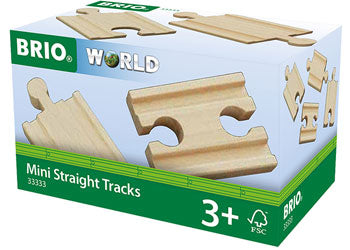 Brio Wooden mini straight tracks