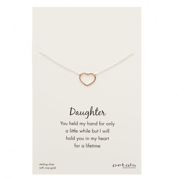 Petals Daughter Necklace | Heart