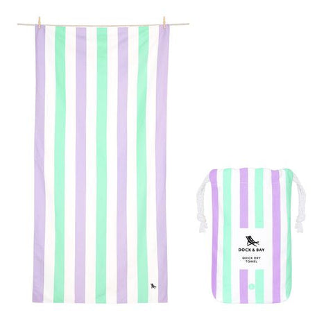 Dock & Bay Microfibre Towel Lavender Fields