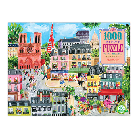 Eeboo 1000 piece puzzle Paris in a Day