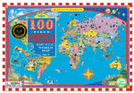 Eeboo 100 piece world map puzzle.