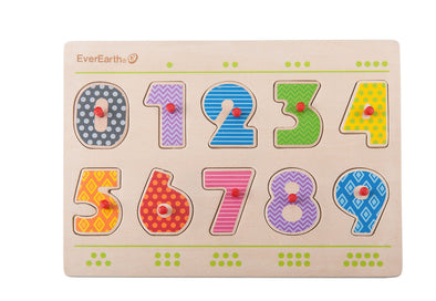Everearth Numbers Peg Puzzle