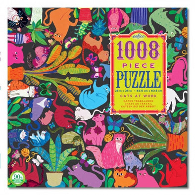 Eeboo Cats at Work 1008 piece jigsaw puzzle