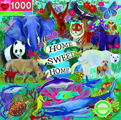 Eeboo Planet Earth 1000 piece jigsaw puzzle