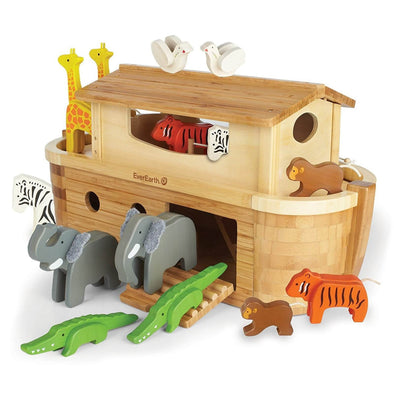 Everearth Large bamboo Ark with animals