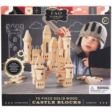 FAO Schwarz Wooden Castle Blocks 75pce