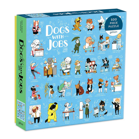galison Dogs with Jobs 500 piece puzzle