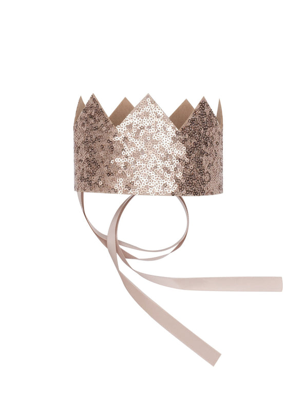 Billy Loves Audrey Gold Sequin Crown