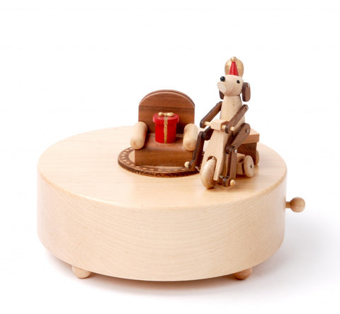 Wooderful Life Music Box Happy Puppy