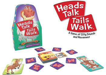 Think Fun Heads Talk Tails Walk Game