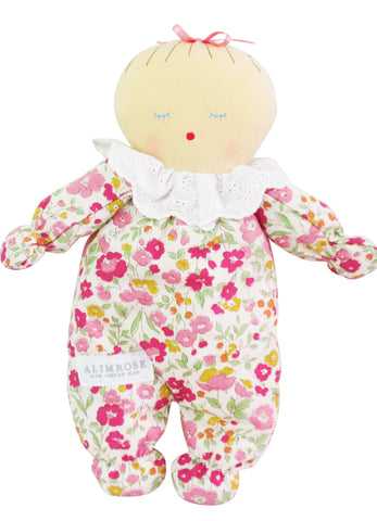 Alimrose Asleep Awake Baby Doll Rose Garden