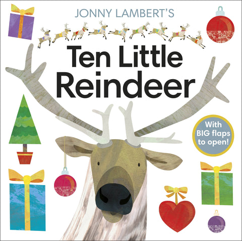 Jonny Lambert's Ten Little Reindeer Christmas Board Book