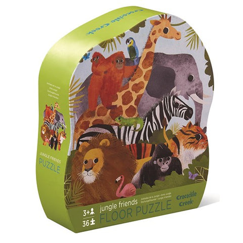 Crocodile Creek 36 piece floor puzzle Jungle Friends