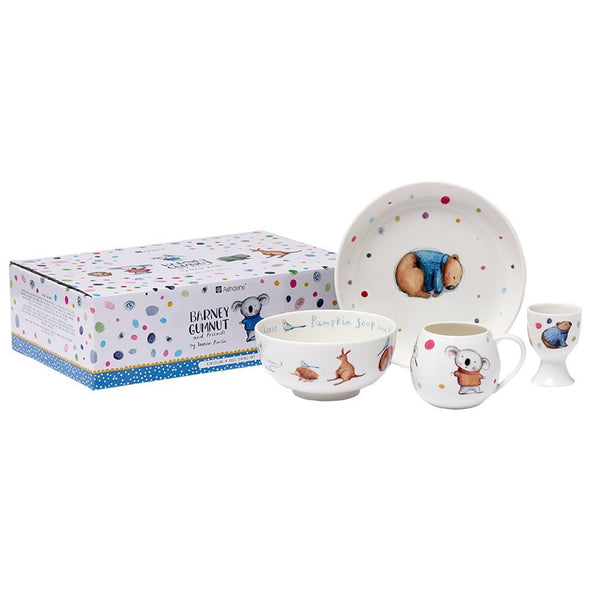 Barney Gumnut 4 piece bone china kids set