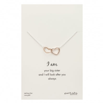 Petals Australia Linked Heart Sister Necklace