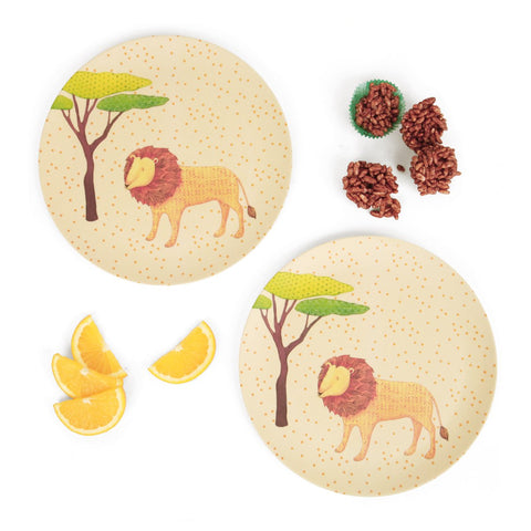 Love Mae 2 pack dinner plates bamboo On Safari
