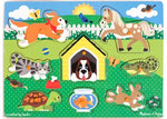 Wooden pets peg puzzle by Melissa and Doug