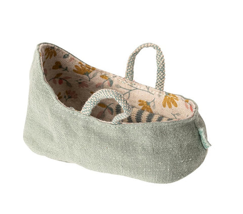 Maileg Carry Cot Dusty Green