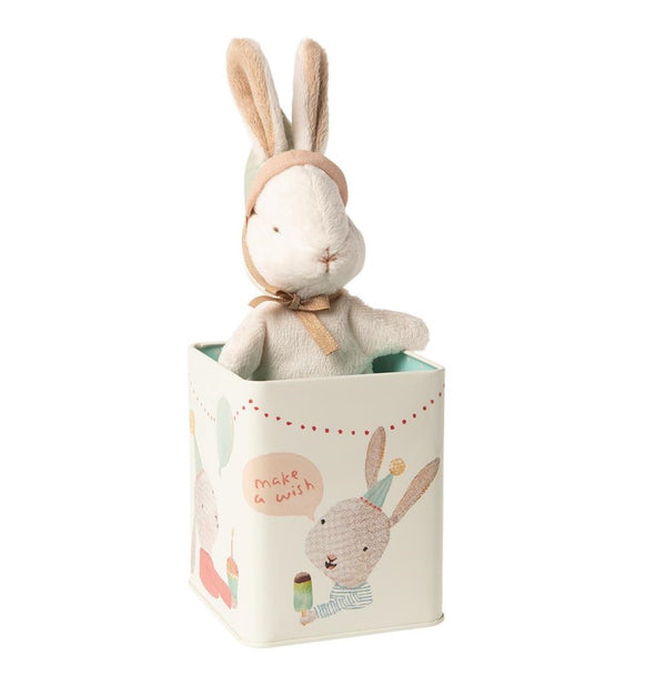 Maileg Happy Day Bunny in tin