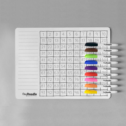 Hey Doodle 100 squares Silicone placemat