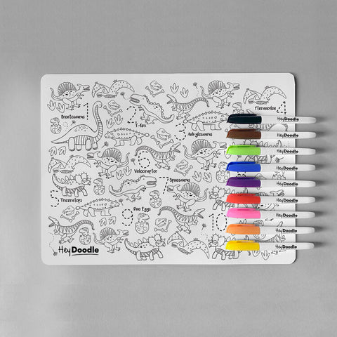 Hey Doodle Dinosaur Silicone Place mat