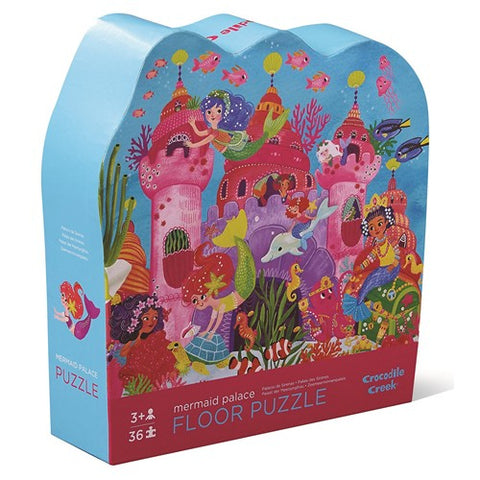 Crocodile Creek Floor Puzzle Mermaid Palace box