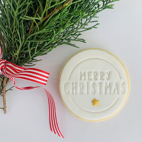 Merry Christmas Star | Hand crafted biscuit