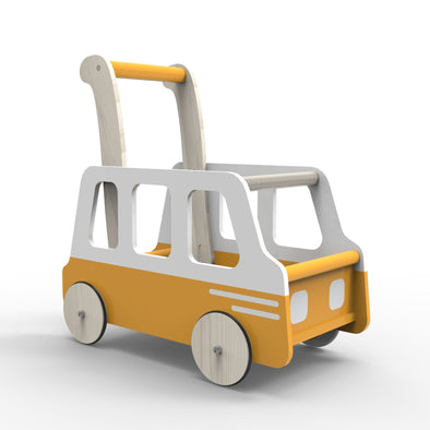 Moover Line Yellow Bus Baby Walker