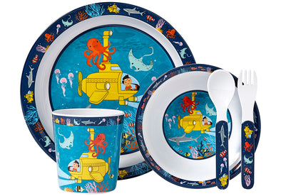 Ocean Explorer 5 piece melamine set