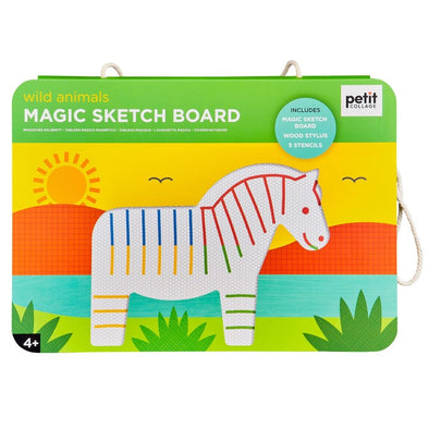 Petit Collage Magic Sketch Board Wild Animals