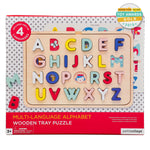 petit Collage Wooden ABC tray puzzle suitable for preschoolers